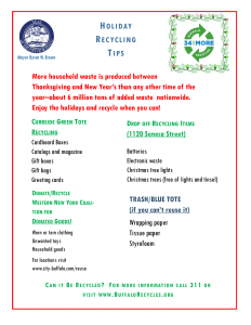 Mayor Brown Holiday Recycling tips - 2016